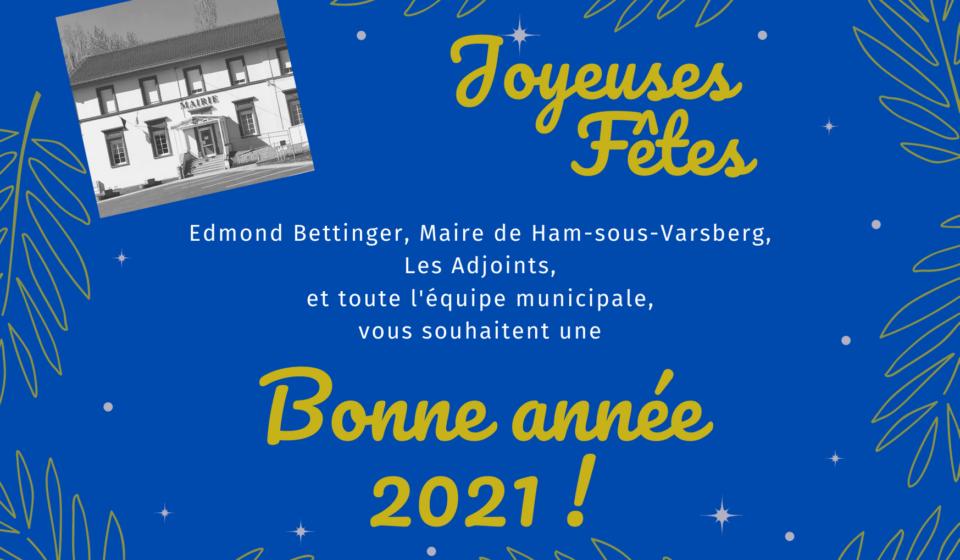 Carte voeux Mairie Ham