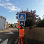 Mise en place de nouveaux panneaux de signalisation près des écoles