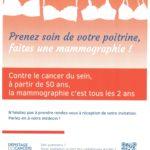 Dépistage du cancer du sein : pensez-y !